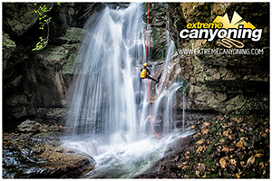 EXTREME CANYONING TEAM IN CANYON DUBRASNICA
