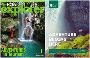 EXTREME CANYONING TEAM ON THE COVER PAGE OF ROAD EXPLORER MAGAZINE