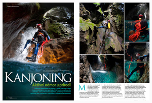 EXTREME CANYONING U TRAVEL MAGAZINU
