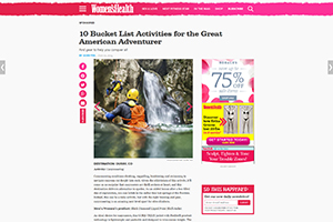 EXTREME CANYONING TEAM ON WOMENS HEALTH WEBSITE